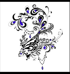 Abstract tatoo fish vector