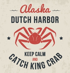 alaska t shirt with king crab vector image