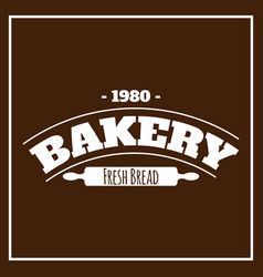 Bakery fresh bread 1980 brown background vector