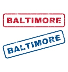 Baltimore rubber stamps vector