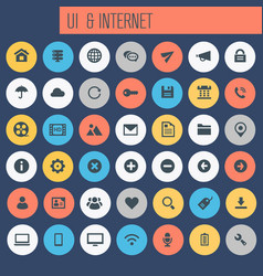 big ui and internet icon set trendy line icons vector image