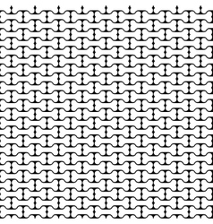 Bone Black and White Seamless Pattern vector image
