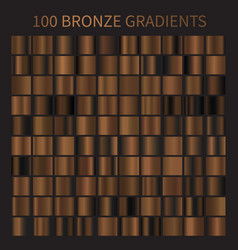 bronze gold gradients collection brown vector image