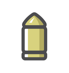 bullet gun cartridge icon cartoon vector image