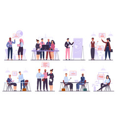 business team characters teamwork business vector image