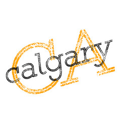 Calgary sticker stamp vector