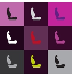 Car seat icons vector