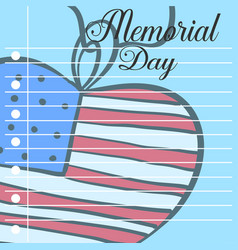 Card of memorial day style design vector