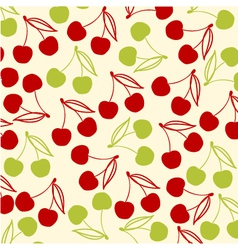 cherries background vector image