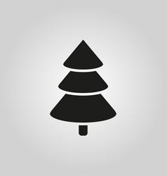 christmas tree icon new year and xmas christmas vector image