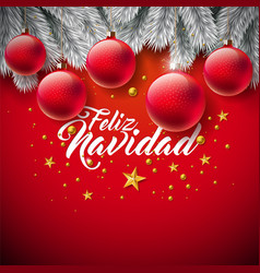 christmas with spanish feliz vector image