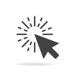 Computer mouse click cursor gray arrow icon vector