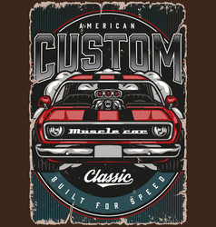 Custom american colorful poster vector