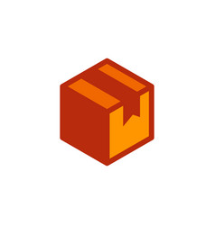 delivery box icon design vector image