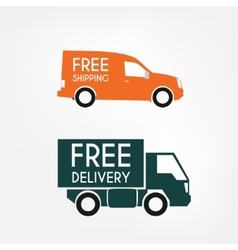 Delivery trucks vector