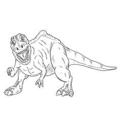 Dinosaur attacking vector