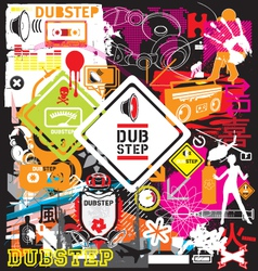 dubstep flyer design elements vector image