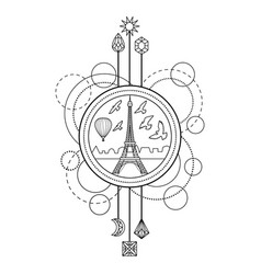 Eiffel tower symbol vector