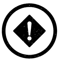 Error Rhombus Icon Rubber Stamp vector