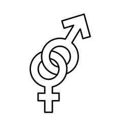 female and male symbol isolated icon vector image