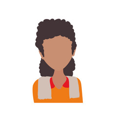Female young faceless avatar vector