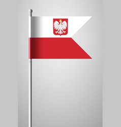 Flag of poland with eagle national flag on vector