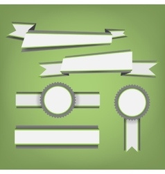 Flat color ribbons and badges vector image