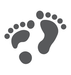 Flat foot glyph icon orthopedic and medical vector