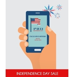Fourth of July Exclusive online Offers Sale hand vector