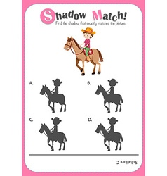 Game template for shadow matching farmer vector image
