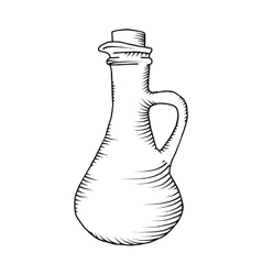 Glass carafe vector image