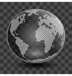 globe isolated on transparent background vector image