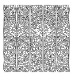grayscale pattern with geometric figures with vector image