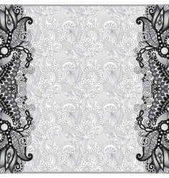 Grey unusual floral ornamental template vector