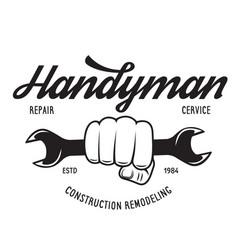 Handyman label badge emblem design element vector
