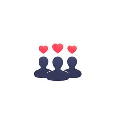 happy customers client satisfaction icon vector image