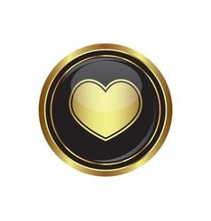 Heart icon gold vector