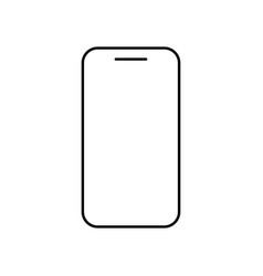 icon phone outline line in black color vector image