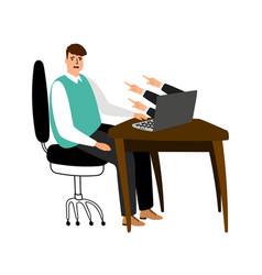 internet bullying concept frustrated vector image