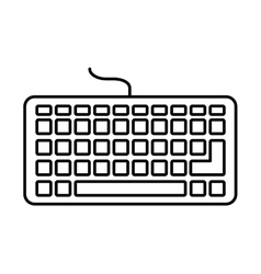 keyboard hardware computer icon vector image