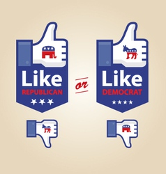 like republican or democrat presidential election vector image