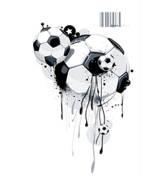 Liquid graffiti football vector image