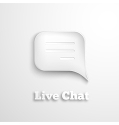 Live chat icon vector