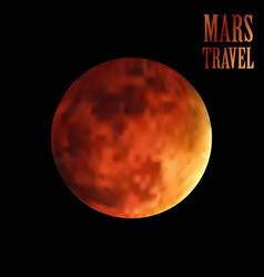Mars travel background eps file vector
