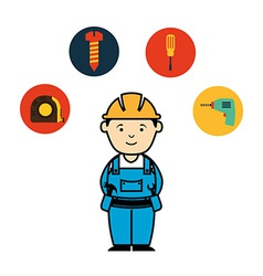 mechanic service vector image
