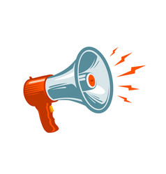 Megaphone loudspeaker mouthpiece symbol or icon vector