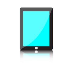 Modern technology device - computer tablet vector