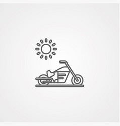motorbike icon sign symbol vector image