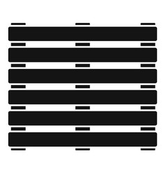 New wood pallet icon simple style vector