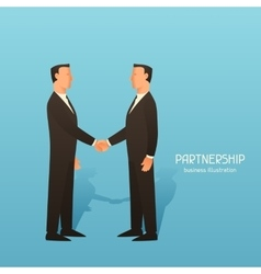 Partnership business conceptual with vector image